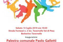 """Locandina inaugurazione palestra """"Paolo Galletti"""""""