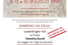 Locandina Leonardo 22 luglio 2019