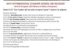 Locandina Summer School anno 2019